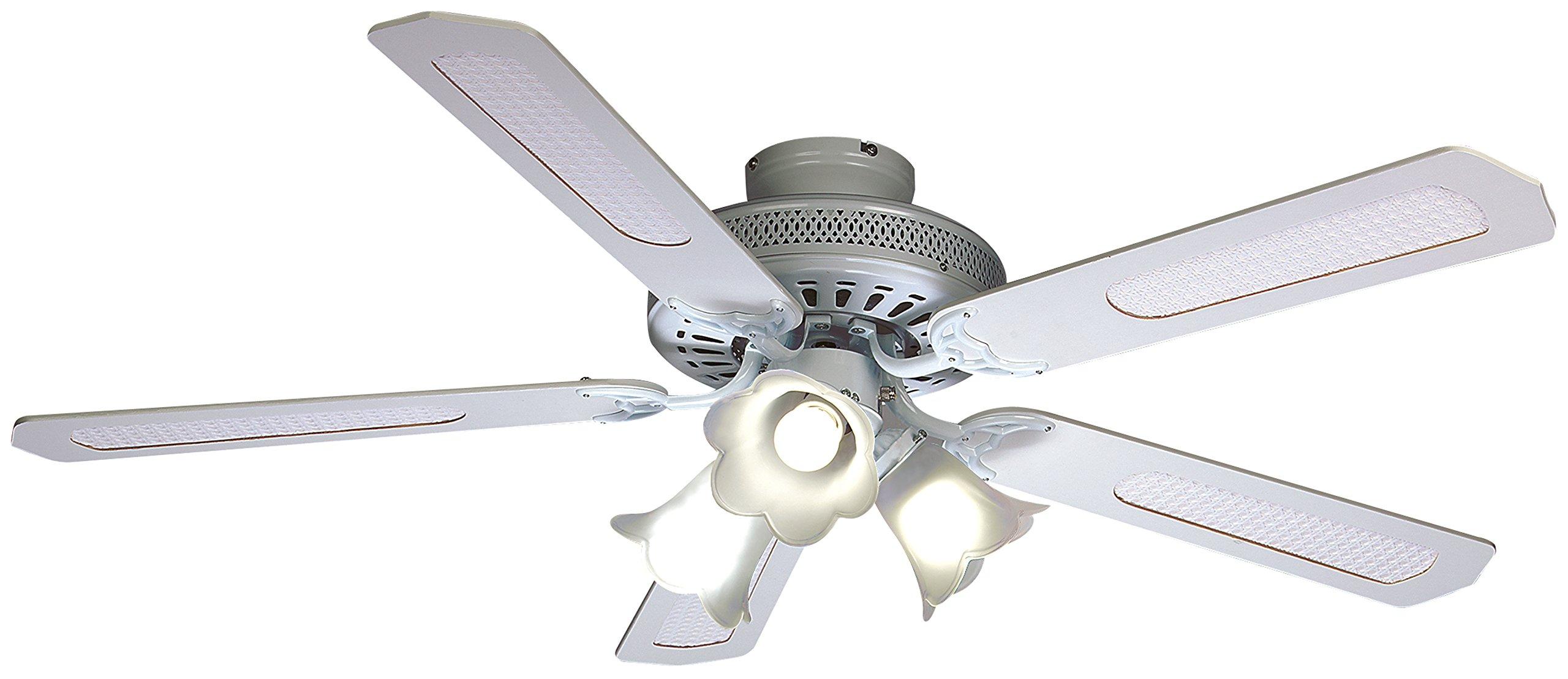 Farelek Baleares - Ventilador para techo (132 cm), color blanco: Amazon.es: Bricolaje y herramientas