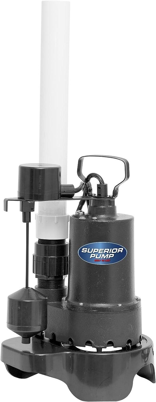 Superior Pump 92372RTGP 1 3 HP Quick Instal Sump Pump