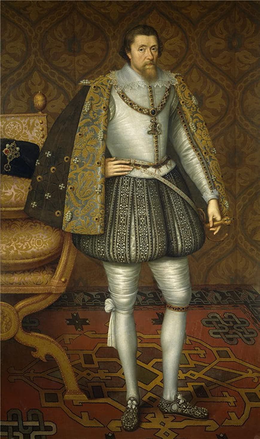 Oil Painting 'Critz John De (Attributed To) Jacobo I De Inglaterra After 1603 ' Printing On Polyster Canvas , 10 X 17 Inch / 25 X 43 Cm ,the Best Bedroom Artwork And Home Decor And Gifts Is This Best Price Art Decorative Prints On Canvas