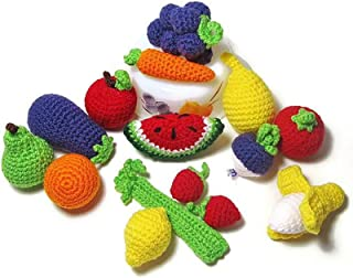 Handmade Baby Kids Soft Crochet Knit Fruit and Vegetable Toy Newborn Photography Prop