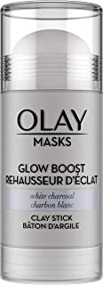 Face Masks by Olay, Clay Charcoal Facial Mask Stick, Glow Boost White Charcoal, 1.7 Oz