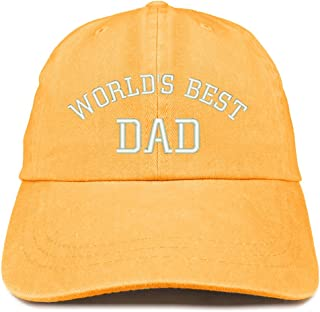 55ea3c2a Trendy Apparel Shop World's Best Dad Embroidered Pigment Dyed Low Profile  Cotton Cap