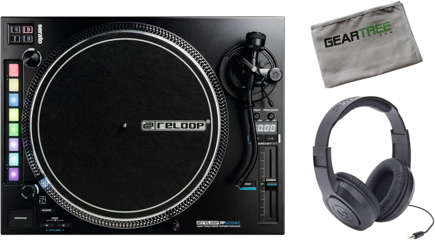 Limited time for free shipping Reloop RP-8000-MK2 Advanced Hybrid w 40% OFF Cheap Sale Turntable Headphones Torque