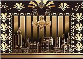 Funnytree Fotohintergrund, 20er Jahre, Motiv: The Great Gatsby, Vintage Stil, Tanz, Geburtstag, Hochzeit, Party, Dekoration, Fotokabine, Banner, Druck, 2 x 15 m