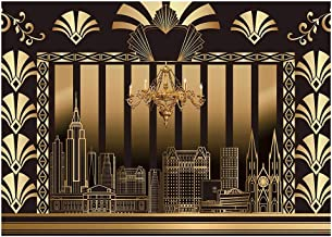 Best Funnytree 7x5FT Roaring 20s Photography Backdrop The Great Gatsby Background Vintage Dance Birthday Wedding Party Decoration Photo Booth Banner Supplies Printed Review