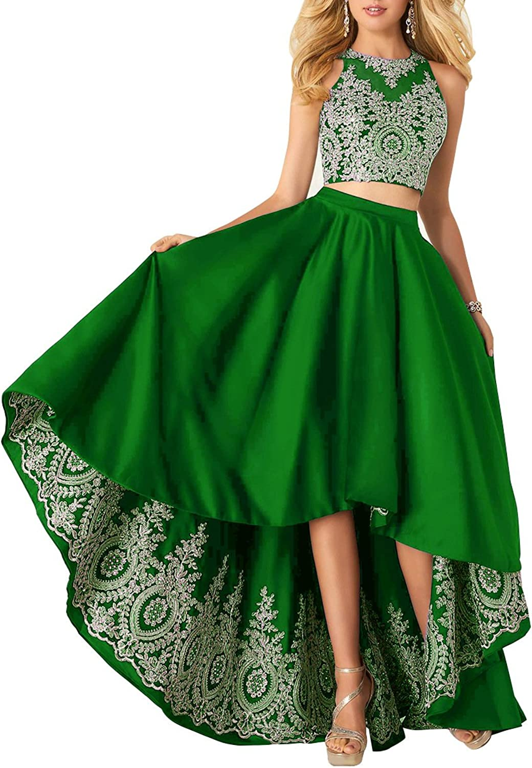 Staypretty Homecoming Dresses Satin Lace Halter Aline Formal Short Prom Gown with Pockets