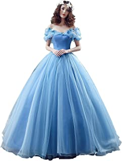 Newdeve Lace up Ball Gown Formal Prom Cinderella Quinceanera Dress