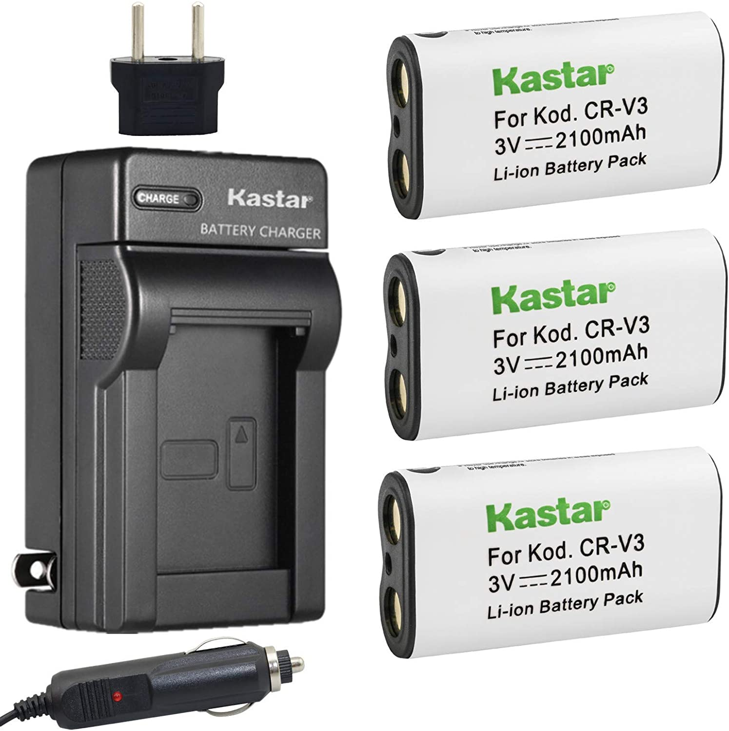 Kastar Battery excellence 3-Pack New Free Shipping and Charger for PowerShot Canon A60 75 70