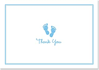 Baby Steps Thank You Notes - Blue (Stationery, Note Cards, Boxed Cards)