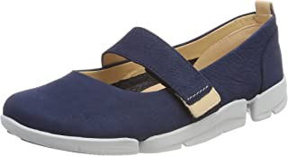 Clarks Womens Tri Carrie Nubuck Shoes Blue