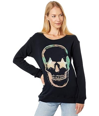 Chaser Dark Skull Cotton Fleece High-Low Pullover
