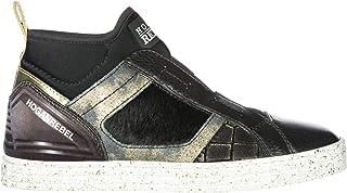 Sneakers Hogan Rebel R182 In Pelle E Glitter Piombo Donna