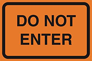 2 Pack - Do Not Enter Orange Road Street Driving Construction Area Zone Safety Notice Warning Business Signs Commercial Plastic Sign