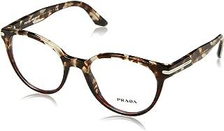 Prada PR07TV Eyeglass Frames U6P1O1-52 - Spotted Brown Op/Spotted Red PR07TV-U6P1O1-52