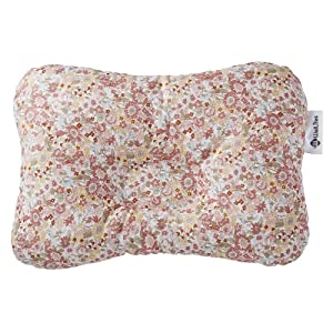 Baby Pillow for Newborn Breathable 3D Air Mesh Organic Cotton, Protection for Flat Head Syndrome Floral Pink