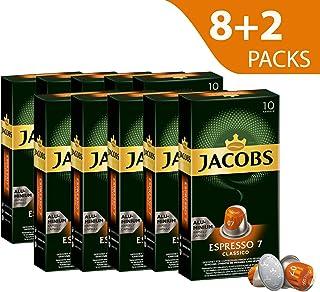 Jacobs Espresso Classico, Intensity 7, Nespresso Compatible Aluminium Coffee Capsules (Pack of 10)
