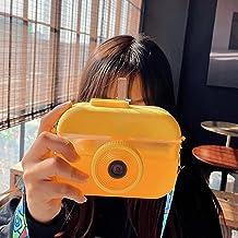 Leuke Kids Waterflessen Met rietjes, 400ML Camera Vorm Fles Verstelbare Schouderriem Voor Schoolen, Reizen, Wandelen En Ou...