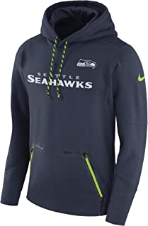 51b26cada Nike Men's Seattle Seahawks College Navy Sideline Player Performance  Pullover Hoodie