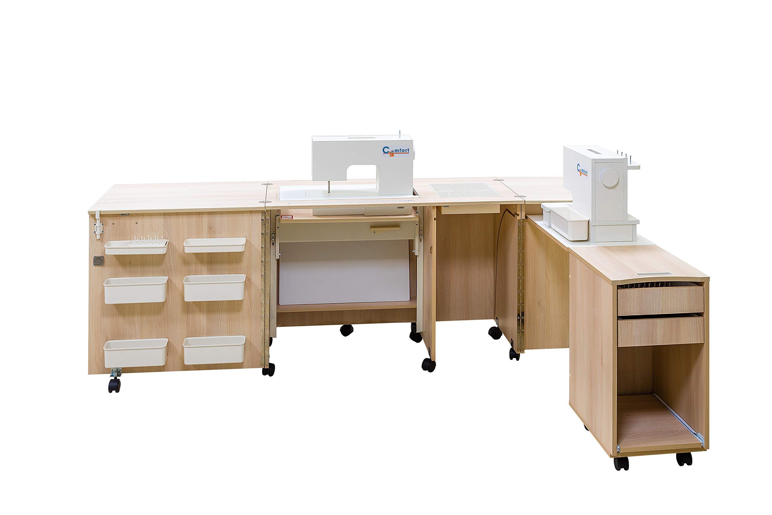 Comfort 4 | Mueble para máquina de coser | (Beech Ellmau, XL (Air ...