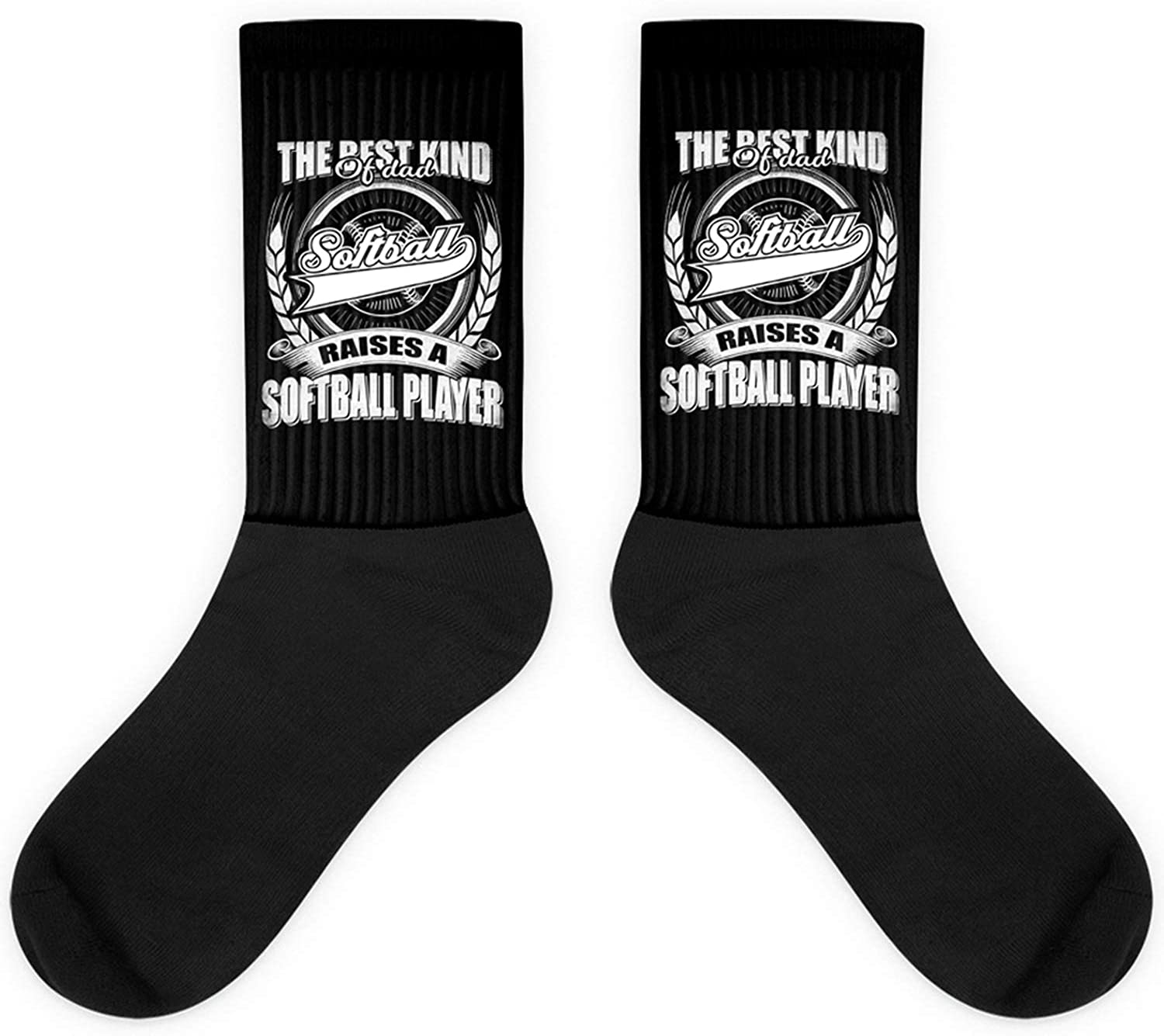 Best For A Proud Dad Of A Softball Player Father Gift Daddy Sock