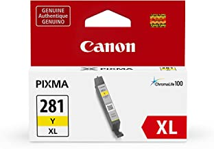 Canon CLI-281XL Yellow Ink Tank, Compatible to TR8520,TR7520,TS9120,TS8120 and TS6120 Printers