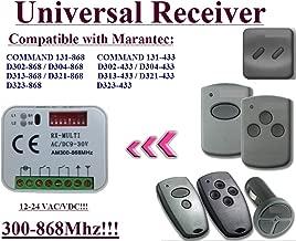 no//NC 433.92/MHz Rolling//C/ódigo fijo de 2/canales receptor universal para Chamberlain 54335eml handsender Chamberlain compatible Receptor de radio M/ódulo en caja /24/V AC//DC 12/
