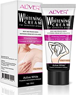 Skin Lightening Cream Natural Whitening Cream Underarm Whitening for Body Dark Skin Lightening Face, Neck, Bikini, Thigh and Sensitive and Private Area Skin 60gram