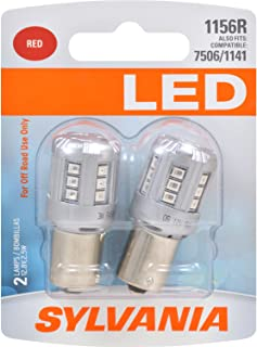 SYLVANIA - 1156 LED Red Mini Bulb - Bright LED Bulb, Ideal for Stop and Tail Lights (Contains 2 Bulbs)