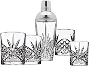 Dublin Cocktail Martini Shaker with Old Fashioned Glasses Barware Set