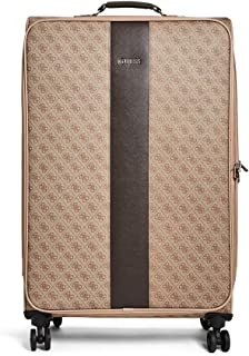 """GUESS Nissana 20"""" Spinner 8-Wheeler Brown with Gold Hardware, Brown with Gold Hardware (Brown) - F6786980-BRN"""