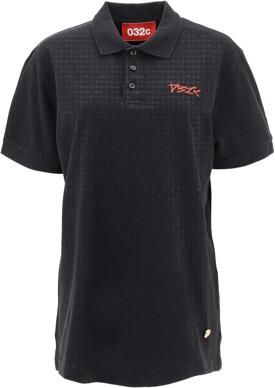 032C Women's 023BMCPOLO Black Cotton Polo Shirt