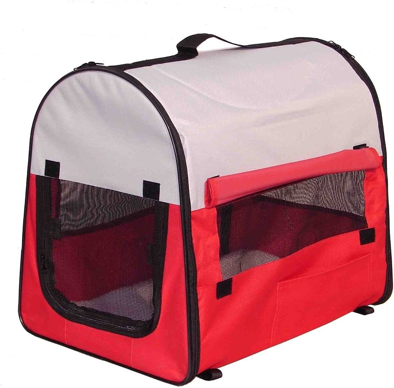 Anyway Red Pet Dog Carrier Soft Cage Comfort Travel Shoulder Bag