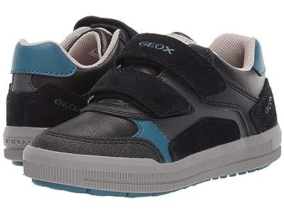 Geox Kids Jr Arzach 17 (Little Kid) (Black/Blue) Boys Shoes