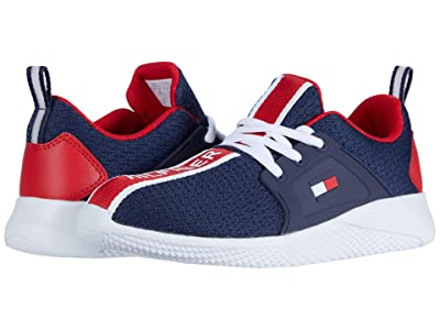 Tommy Hilfiger Kids Cadet Lace (Little Kid/Big Kid) (Navy Mesh/Red) Kid