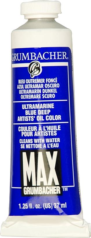 Grumbacher Max Water Miscible Oil Paint, 37ml/1.25 oz, Ultramarine Blue Deep