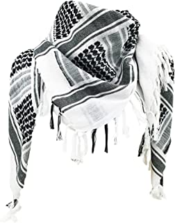 100% Cotton Military Shemagh Tactical Desert Keffiyeh Head Neck Scarf Wrap