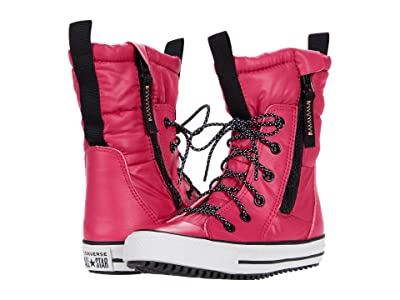 Converse Kids Chuck Taylor(r) All Star(r) MC Boot (Little Kid/Big Kid) (Pink Pop/Black/White) Girls Shoes