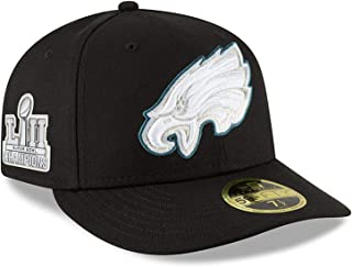 (ニューエラ) NEW ERA フィラデルフィア イーグルス 【SUPER BOWL LII CHAMPIONS 2018 LOW CROWN 59FIFTY FITTED/BLK】 PHILADELPHIA EAGLES [並行輸入品]