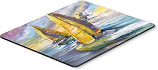 Caroline's Treasures JMK1061MP Sailboat with Middle Bay Lighthouse Mouse Pad, Hot Pad or Trivet, Large, Multicolor