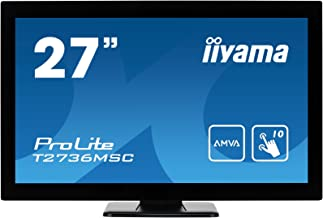 "iiyama Prolite T2736MSC-B1 27"" 1920 x 1080pixels Multi-Touch Black Touch Screen Monitor"
