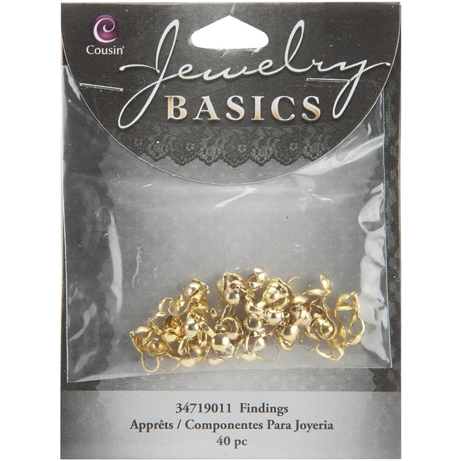Cousin Jewelry Basics 40-Piece Crimp Cover, Gold