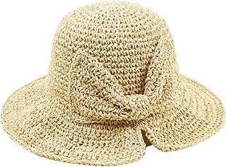 FRAUIT Cappello Donna Estivo Pieghevole Cappelli Ragazza Estivi Uncinetto Berretto Con Visiera Estivo Cappelli Eleganti Feltro Cappellino Cappello Paglia Estate Mare Spiaggia