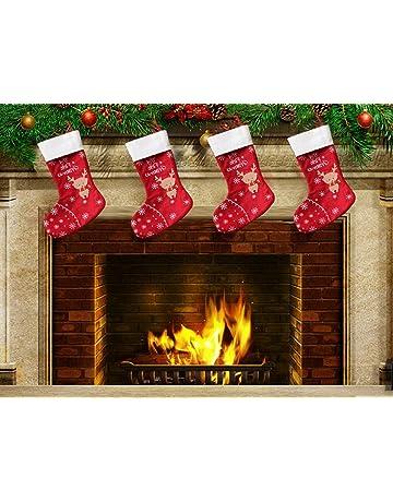 Decorazioni Natalizie 94.24 Pezzi 3 94 X 7 09 Pollici Calze Di Feltro Natalizie Ornamenti Appesi Allalbero Di Natale Rossi E Verdi Per Famiglia Decorazioni Natalizie Sacchetti Di Calze Natalizie Grandi Di Bambini Calze Di Natale