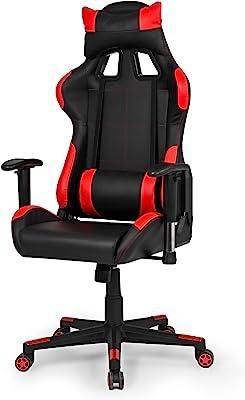 Due-home - Silla ergonomica de oficina gaming Silverstone, sillón giratorio para escritorio,
