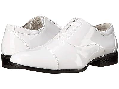 Stacy Adams Gala Cap Toe Oxford (White Patent) Men
