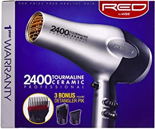 Kiss Red Dryer 2400 Tourmaline 3 Attachments (Tourm Ceramic)