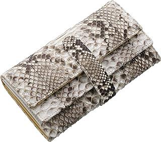 三京商会 ギャルソン 長財布 レディース 小銭入れ大きい ヘビ革 ダイヤモンド パイソン レザー