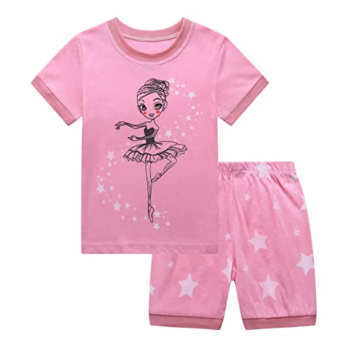 8b0a58f189 RKOIAN Little Girls  Short Pajamas Sets Toddler PJS Cotton Kids Sleepwears