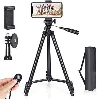 Veasion Mobiel Statief 130cm(51inch)camera statief voor iphone, statief voor mobiele telefoon en Bluetooth afstandsbedieni...