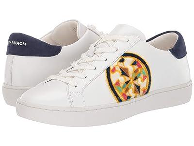 Tory Burch T- Logo Fil Coupe Sneaker (White/Royal Navy/Multi) Women